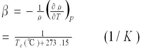 体膨張係数,定義